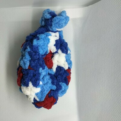 Yarn Water Balloon - Blue, white, red