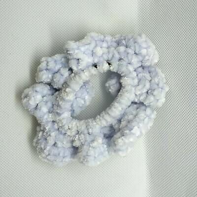 Yarn Scrunchie - Blue, Small