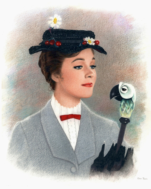 16 x 20 POSTER PRINT - JULIE ANDREWS AS MARY POPPINS ART