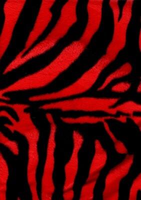 RED ZEBRA Faux Fur