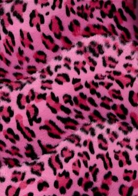 Pink Leopard Faux Fur