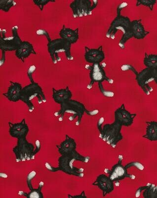 Red with Black Cats