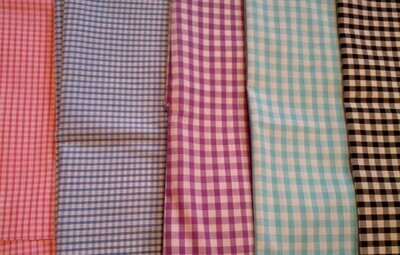 Ginghams: Pink, Blue, Lilac, Aqua, Black