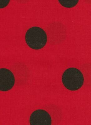 Red with Black  Spots