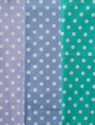 Pastels with White Dots - Lilac, Blue & Aqua
