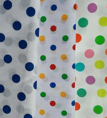 White with Multi Dots - Royal, Primary & Bright