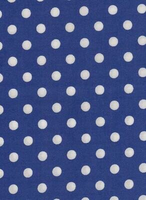 Royal Blue with White Dots