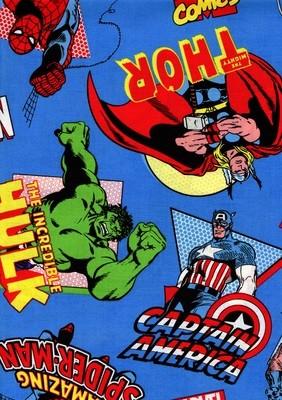 Superheroes - Blue Background