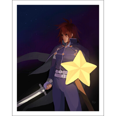 Star Shield Print