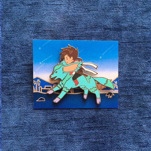 Blue Noishe Enamel Pin