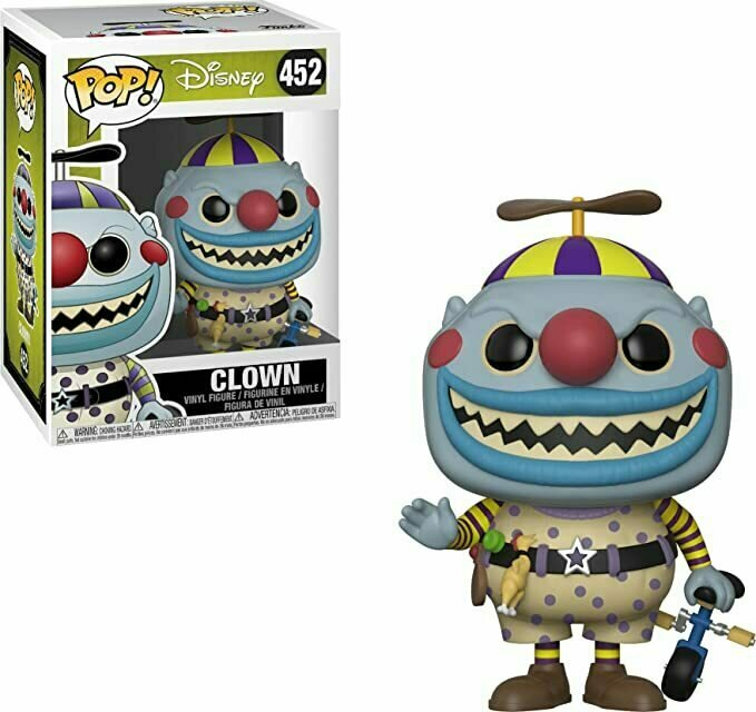 Funko Pop! Disney: Nightmare Before Christmas - Clown Collectible Figure, Multicolor