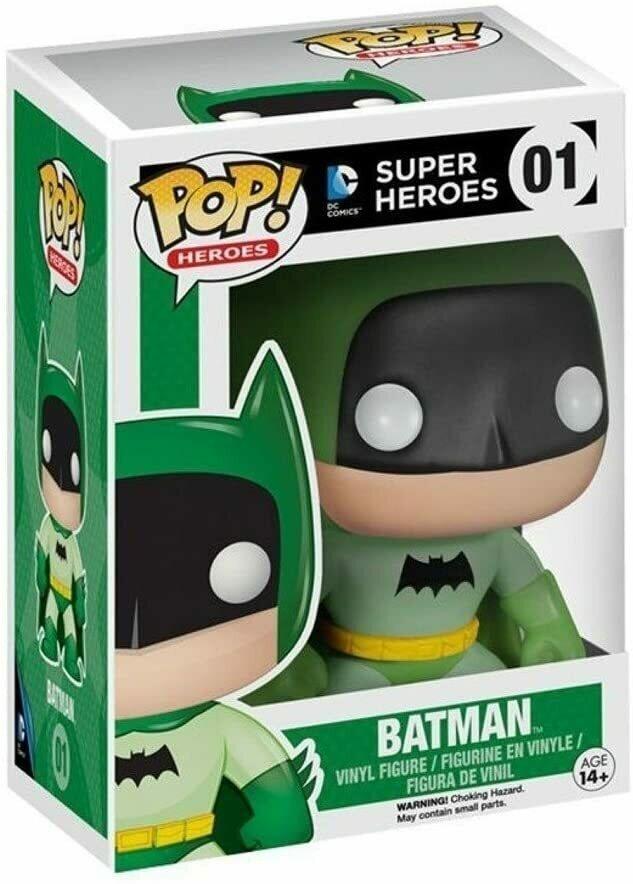 Toy - Pop - Vinyl Figure - Batman - 75th Anniversary - Green - EE Exclusive (DC Comics)