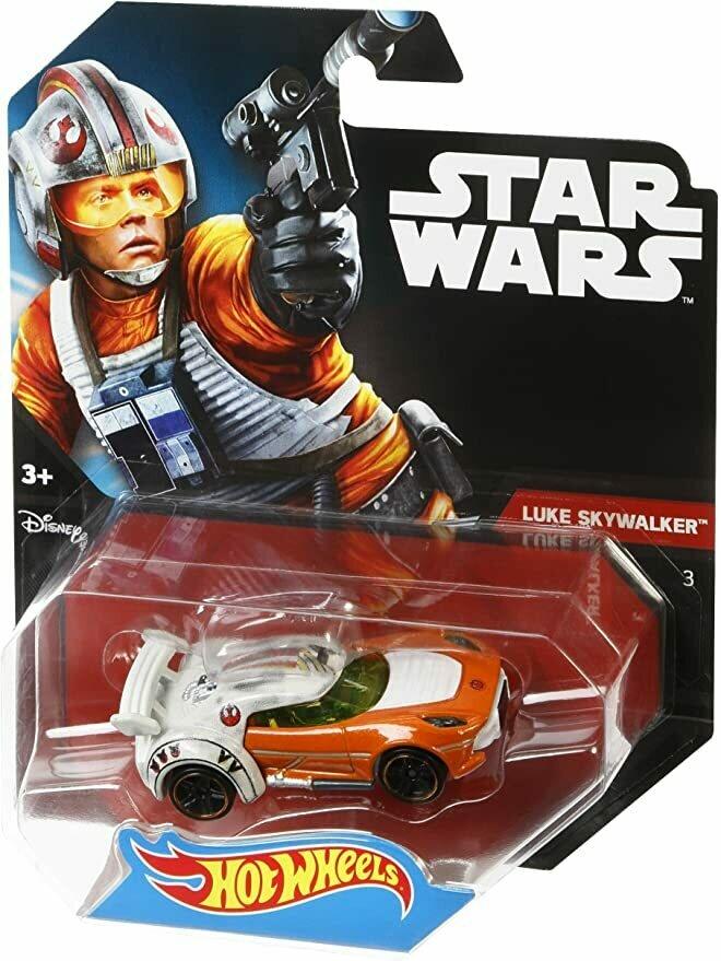Hot Wheels Star Wars Luke Skywalker Character Car