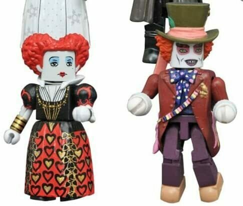 Diamond Select Toys Alice Through Looking Glass Minimates Series 1 Mad Hatter & Red Queen