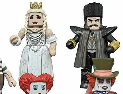Diamond Select Toys Alice Through Looking Glass Minimates Series 1 Time & White Queen