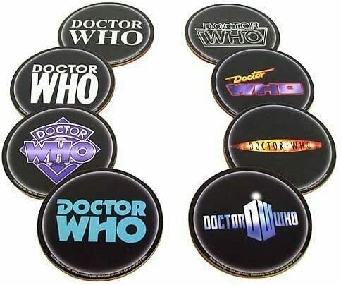 Doctor Who Logo Coaster 8-Pk