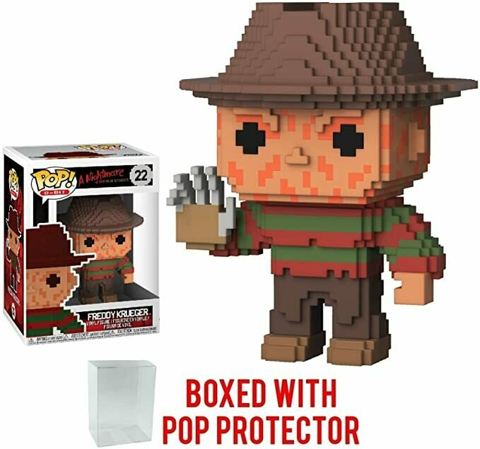 Funko 8-Bit Pop! Horror: A Nightmare on Elm Street - Freddy Krueger Vinyl Figure (Bundled with Pop BOX PROTECTOR CASE)
