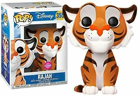 Funko Aladdin Pop!  Rajah Exclusive Vinyl Figure [Flocked]