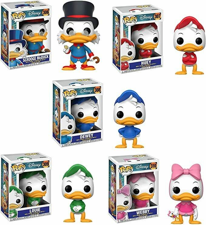 Funko Disney Pop! DuckTales Scrooge McDuck Huey Dewey Louie Webby Collectible Set