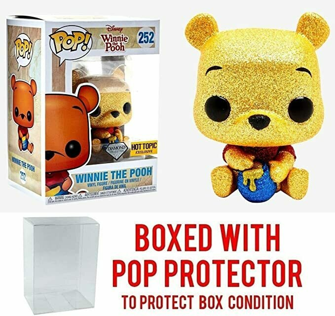 Funko Pop! Disney: Diamond Collection Winnie The Pooh #252 Exclusive Collectible Vinyl Figure (Bundled with Pop Box Protector Case)