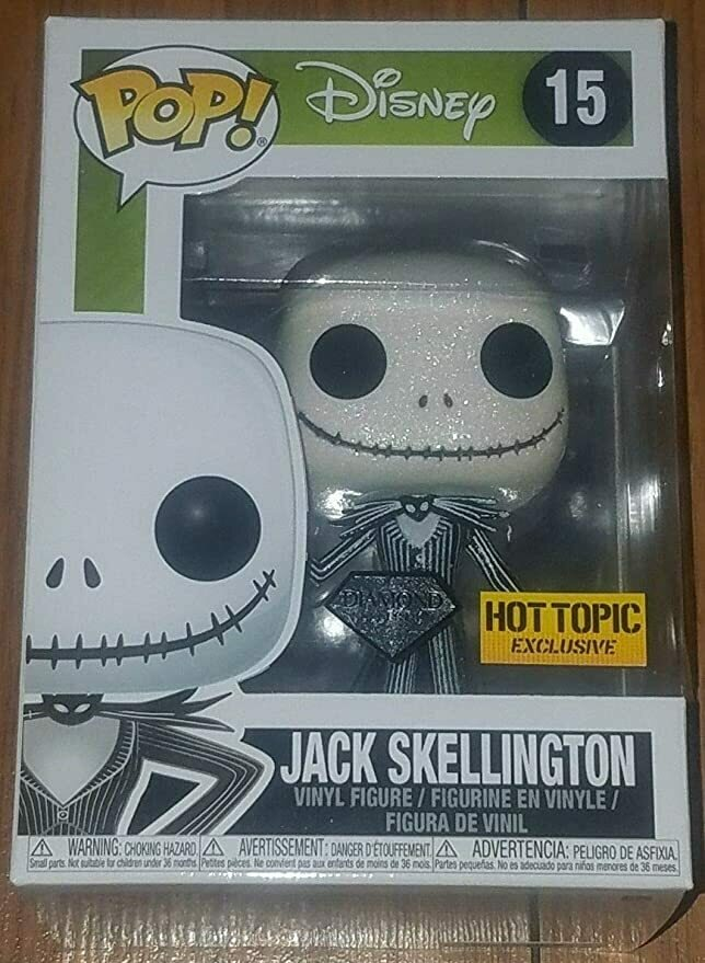 Funko Pop! Disney: Jack Skellington [Diamond Collection] #15 - Hot Topic Exclusive!