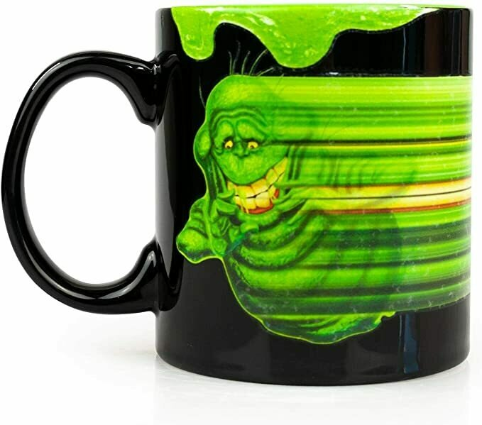 "Ghost Busters OFFICIAL Slimer ""Ugly Little Spud, Isn't He?"" Glow In The Dark Magic Ceramic Coffee Mug, 20oz Black"