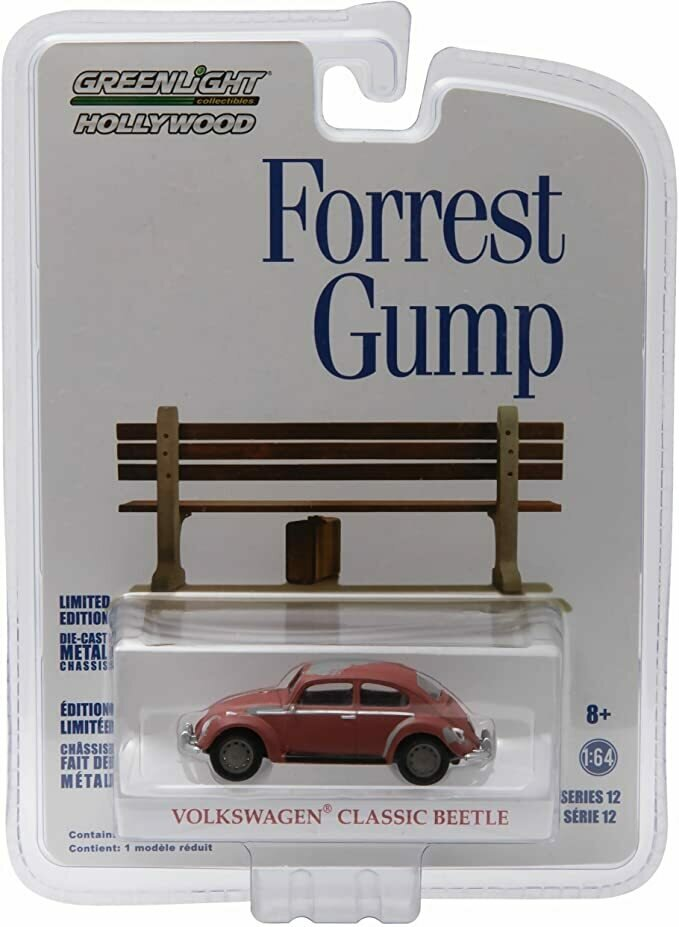 Greenlight 1961 Volkswagen Beetle from The Classic 1994 Film Forrest Gump GL Hollywood Series 12 2016 Collectibles Limited Edition 1:64 Scale Die Cast Vehicle