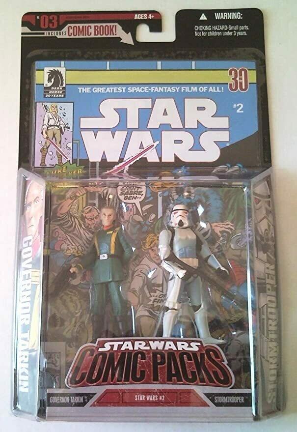 Hasbro Star Wars 3.75 Expanded Universe Storm Trooper & Governor Tarkin