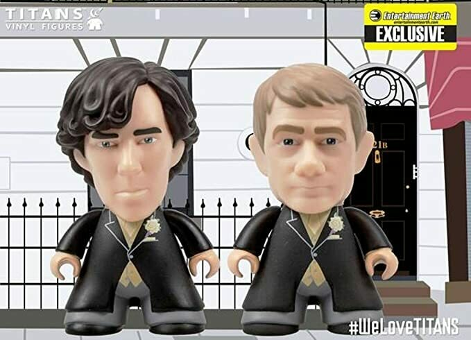 Sherlock Holmes & John Watson 2-Pack Wedding Suits 3-inch Mini-Figures Titans