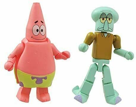 "Spongebob Squarepants Minimates Patrick & Squidward 2"" Minifigure 2-Pack"