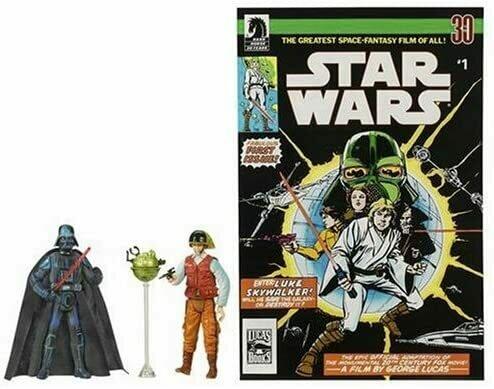 Star Wars 3.75 Expanded Universe Darth Vader & Rebel Officer