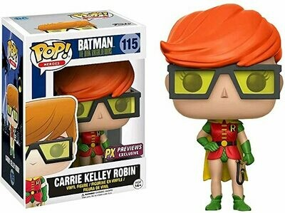 Funko Carrie Kelley Robin (PX Exclusive): Batman The Dark Knight Returns x Pop! Heroes Vinyl Figure & 1 PET Plastic Graphical Protector Bundle [#115 / 09769 - B]