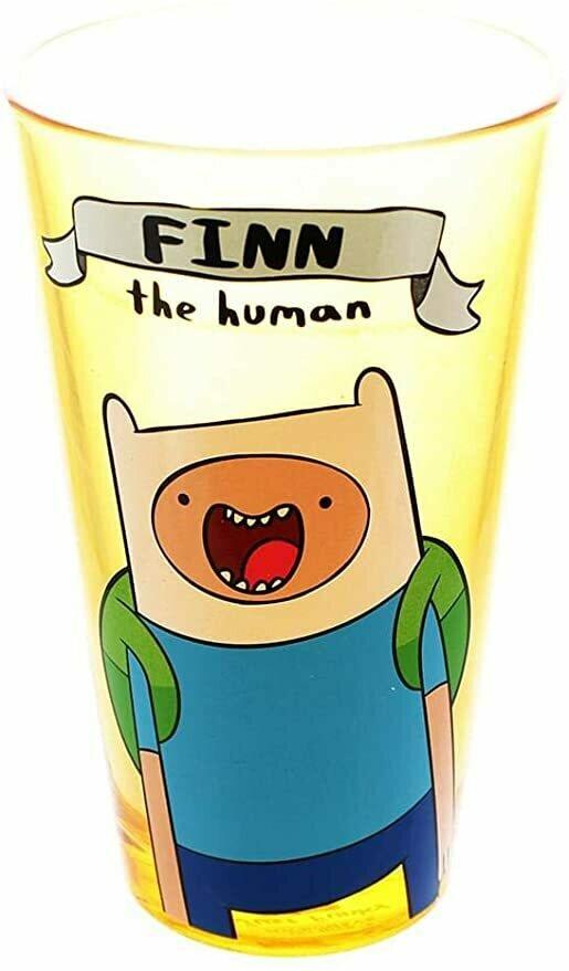 "Adventure Time""Finn The Human"" 16oz Pint Glass"
