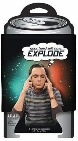 "Big Bang Theory Sheldon ""Your Head Will Now Explode"" Can Huggie"