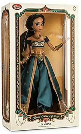 "Disney Store Princess Jasmine 17"" Limited Edition LE 5000 Doll 2015"
