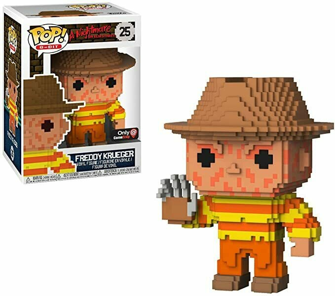 Freddy Krueger (GameStop Exc): Funko Pop! 8-bit Horror Vinyl Figure & 1 Compatible Graphic Protector Bundle (025 - 24545 - B)