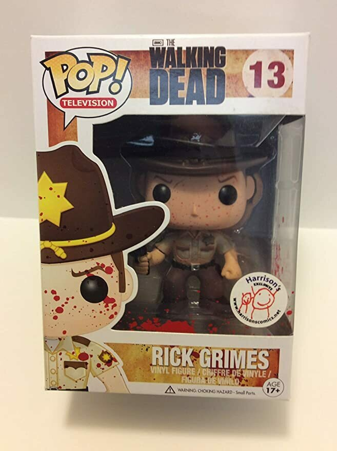 FUNKO THE WALKING DEAD BLOODY RICK GRIMES HARRISON'S EXCLUSIVE Pop! FIGURE