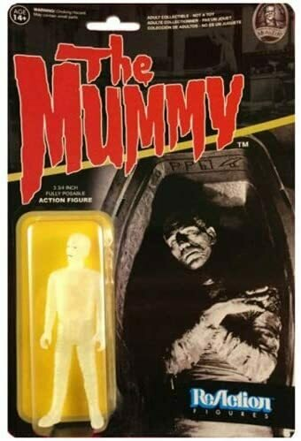 Funko Universal Monsters Series 2 - Mummy ReAction Action Figure - Glow in the Dark Chase Variant