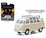 Greenlight New 1:64 Hollywood Series 13 Collection - Supernatural (2005) Beige 1967 Volkswagen Samba Bus Diecast Model Car