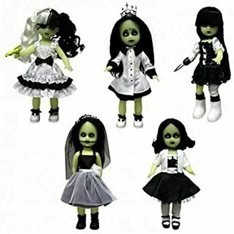 Living Dead Dolls Series 28 Sweet 16 Variant Glow in The Dark 5 Doll Set