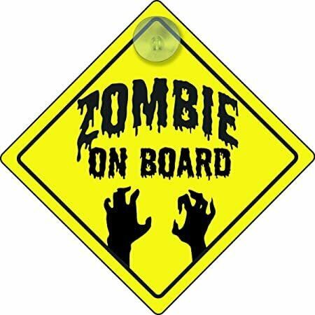 Spherewerx Zombie On Board Hanging Car Sign