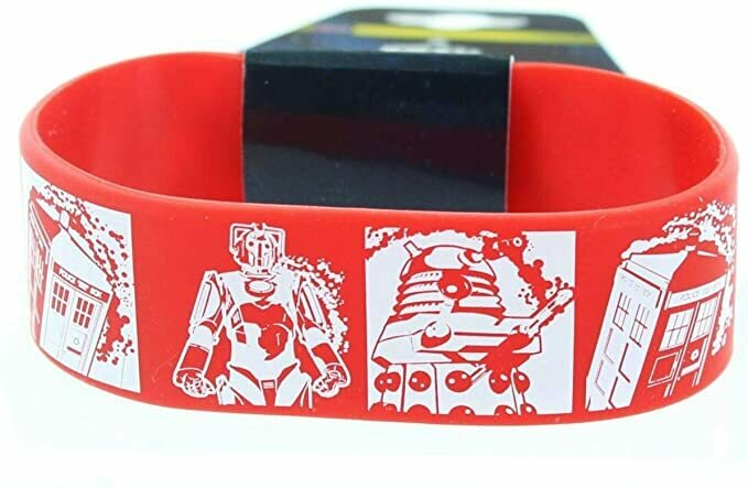 Underground Toys Doctor Who Rubber Wristband Comic Strip Red