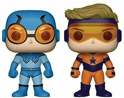 Funko Pop! Heroes: DC Heroes Booster Beetle Vinyl Figure (2 Pack), Gold/Blue