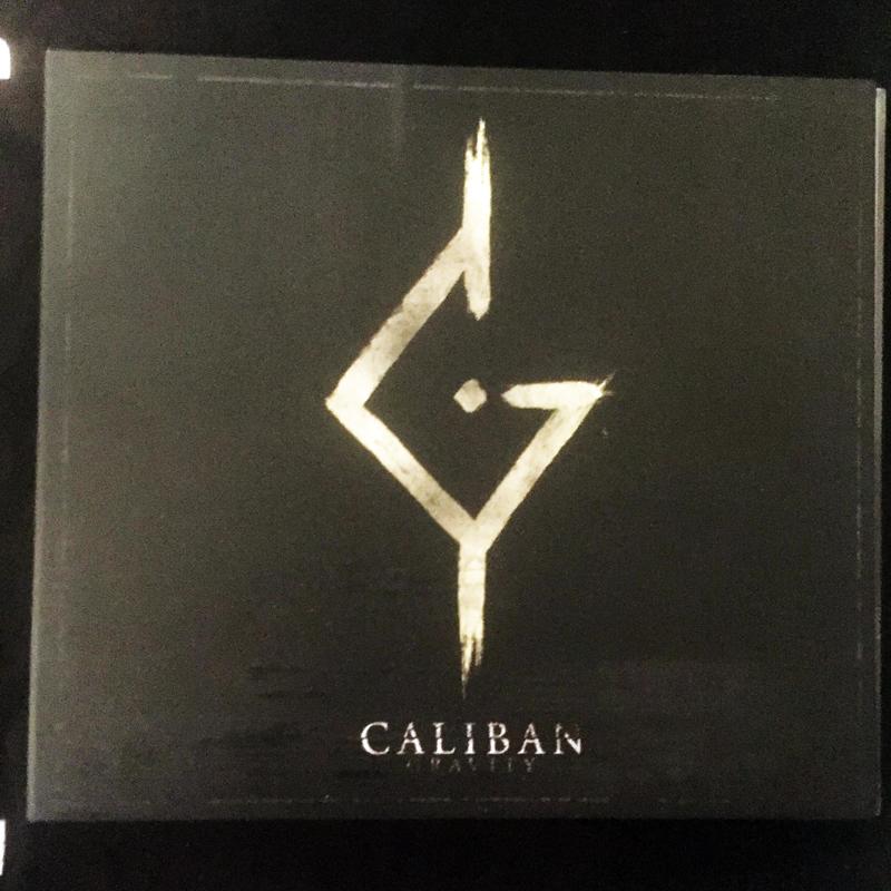 """CD digipack CALIBAN """"GRAVITY"""" 2016"""