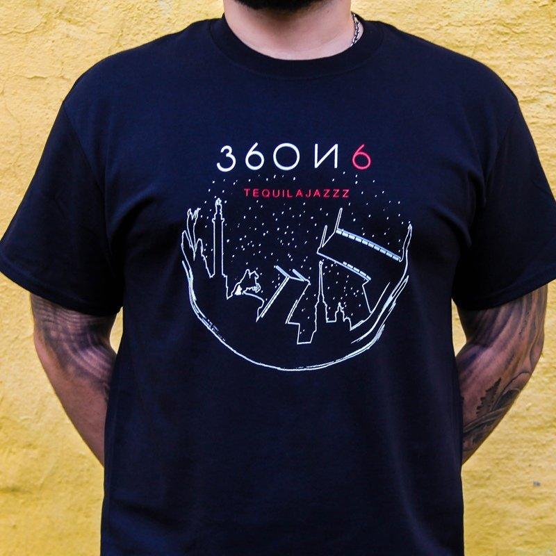 """TEQUILAJAZZZ - футболка мужская """"360 и 6"""" (черная)"""