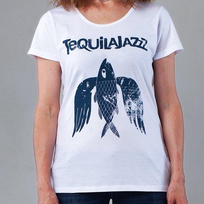 "TEQUILAJAZZZ - футболка женская ""Птица"" (белая)"