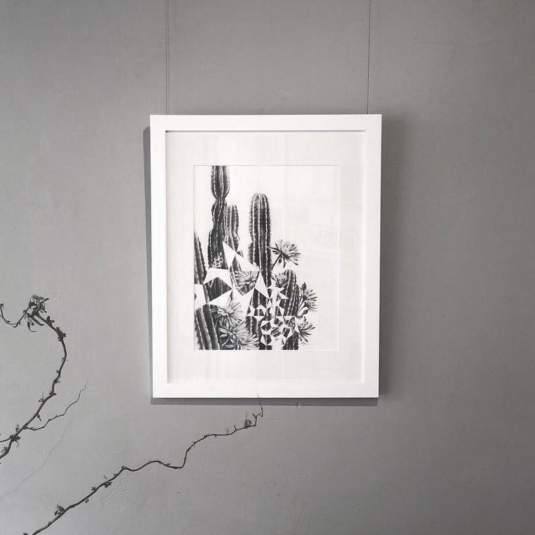 Cactus Pentigree - Framed Original Artwork