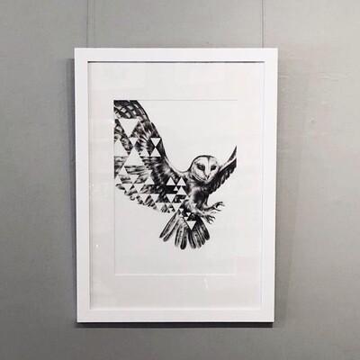 Fractal Fan - Framed Original Artwork