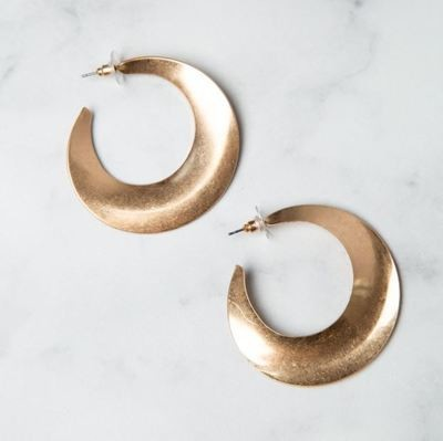 Curativ Athens Shaped Worn Gold Hoops