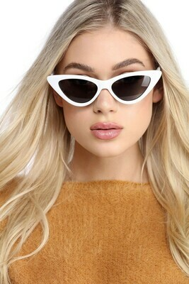 Kendall white cat eye sunglasses
